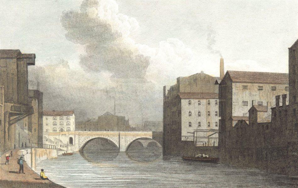 Associate Product MANCHESTER. New Bailey Bridge Manchester. Hand coloured. (Westall) 1830 print