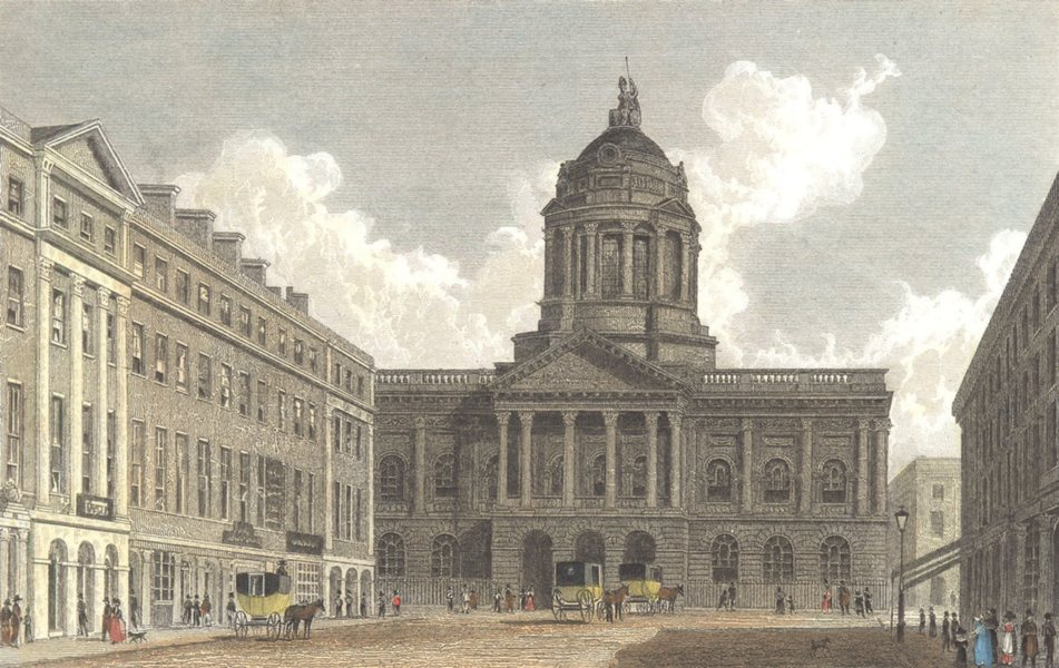 Associate Product LIVERPOOL. Town Hall & Mansion House. . (Finden/Westall) c1833 old print
