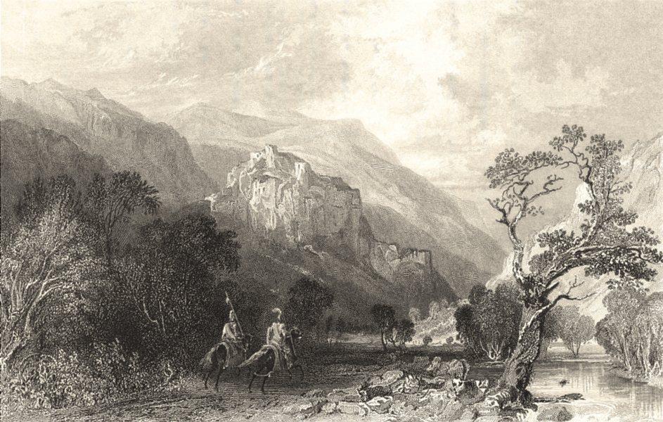 Associate Product CUMBS. Cumbs. Castle Rock. Vale St John.  1832 old antique print picture