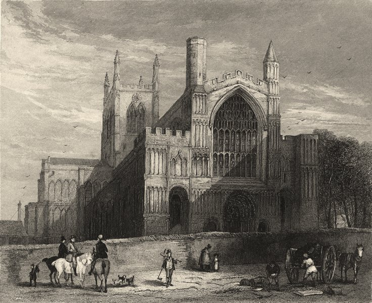 Associate Product KENT. Rochester Cathedral, North Western view. (Winkles) 1860 old print