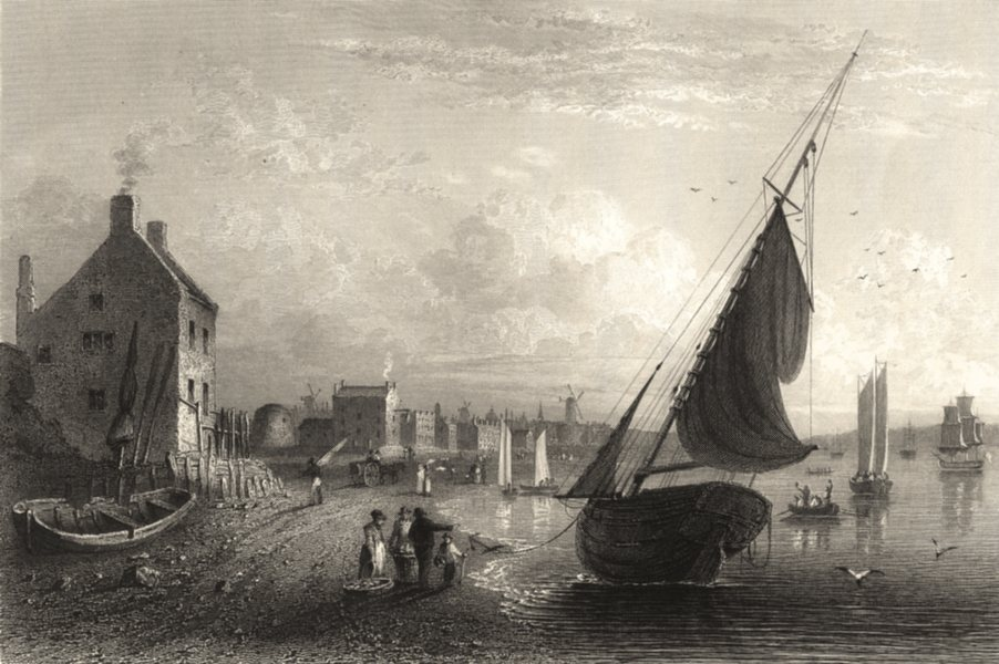 Associate Product LIVERPOOL. Fisher. The Ancient Washing- Gate, Liverpool 1845 old antique print