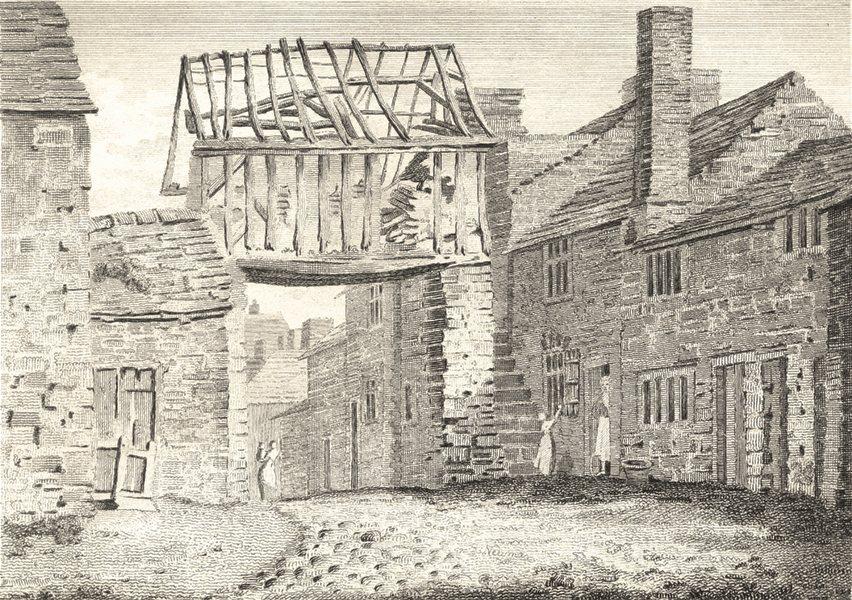 Associate Product LANCASHIRE. Ashton Dungeons + Jailers Chapel. Aikin / Stockdale 1794 old print