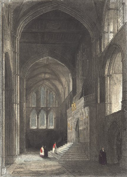Associate Product KENT. Interior of Rochester Cathedral. North Transept. (Winkles) 1836 print