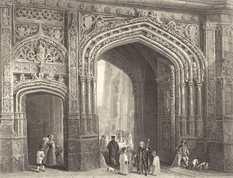 Associate Product KENT. Christ- Church Gate- House- Canterbury. (Bartlett) 1836 old print
