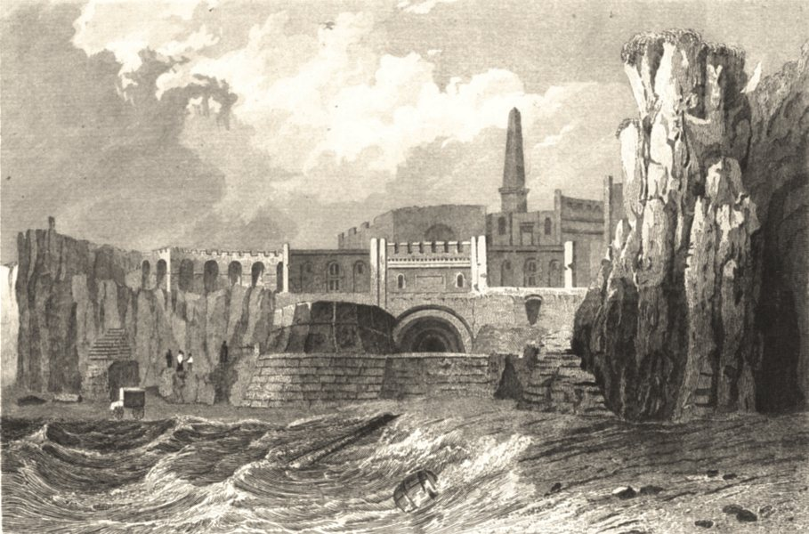 Associate Product KENT. Margate Clifton Baths. Fine steel view. (Bartlett) 1830 old print