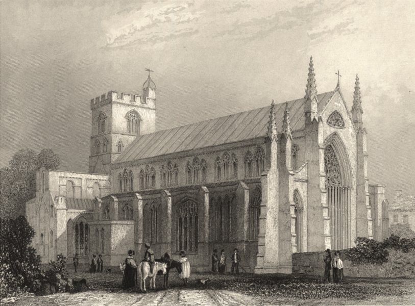 Associate Product CUMBRIA. Carlisle Cathedral; South East View. (Winkles) 1860 old antique print