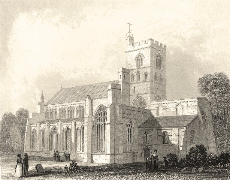 Associate Product CUMBRIA. Carlisle Cathedral, N. W. View. (Winkles) 1860 old antique print