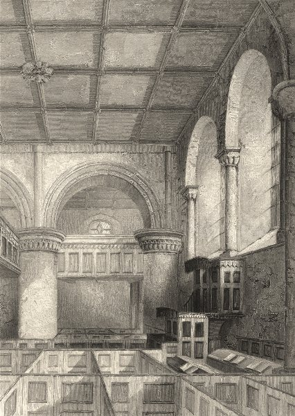 Associate Product CUMBRIA. Carlisle Cathedral, Part of the Nave. (Winkles) 1860 old print