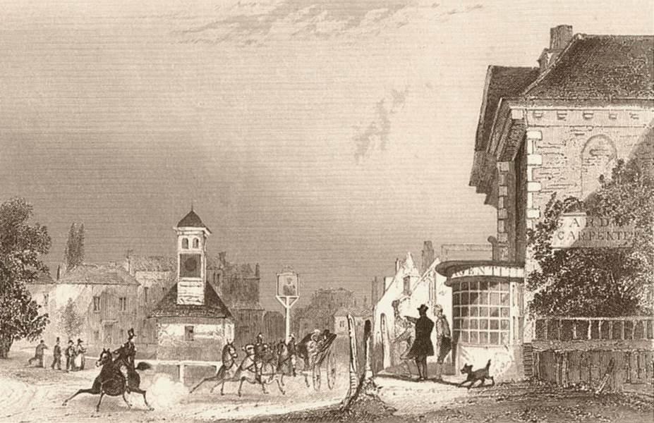 Associate Product EPSOM. Town view. Surrey. Dugdale c1840 old antique vintage print picture