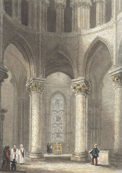 Associate Product KENT. Interior Canterbury cath. Becket's Crown.. (Winkles) 1836 old print