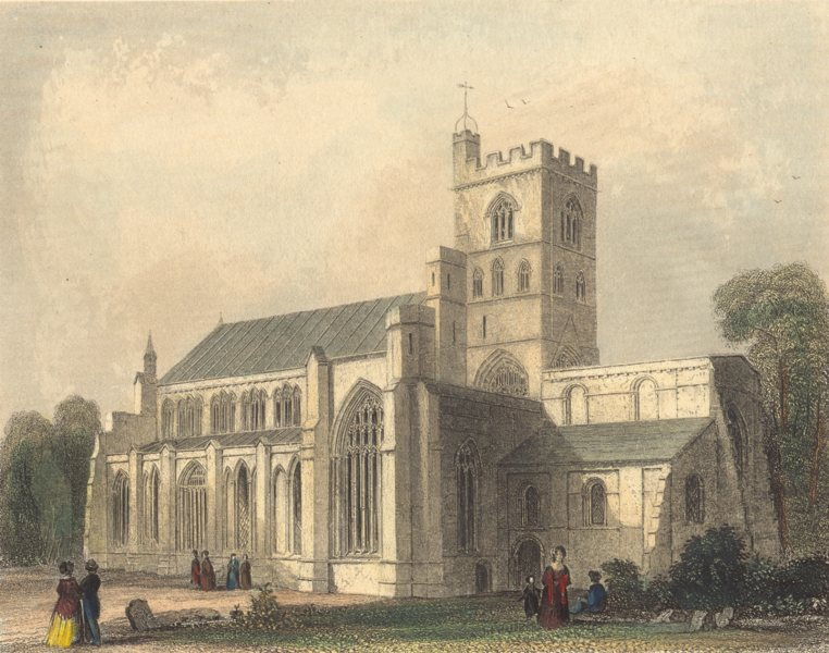 Associate Product CUMBRIA. Cumbs. Carlisle Cathedral. N. W. View. (Winkles) 1850 old print