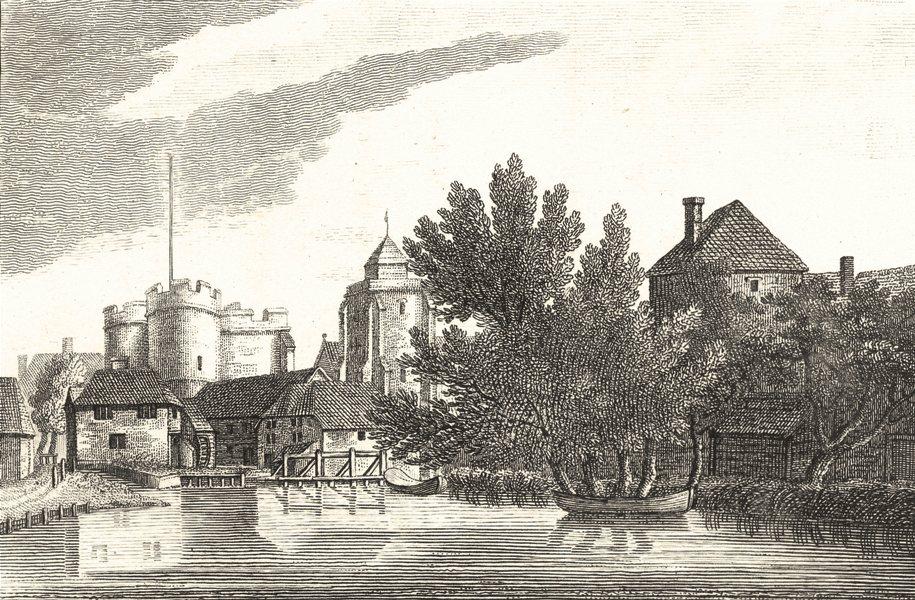 Associate Product KENT. West Gate, Canterbury 1784 old antique vintage print picture