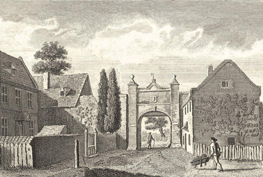 Associate Product KENT. Wincheap Gate, Canterbury, Kent 1784 old antique vintage print picture