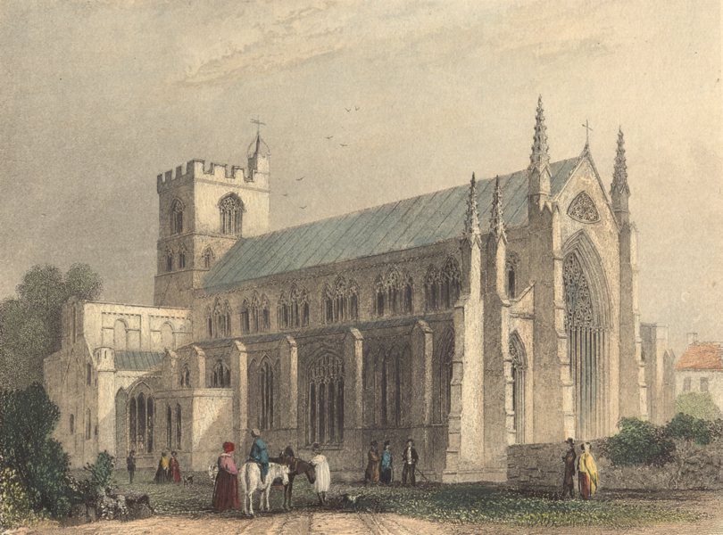 Associate Product CUMBRIA. Cumbs. Carlisle cathedral. (Winkles) 1850 old antique print picture