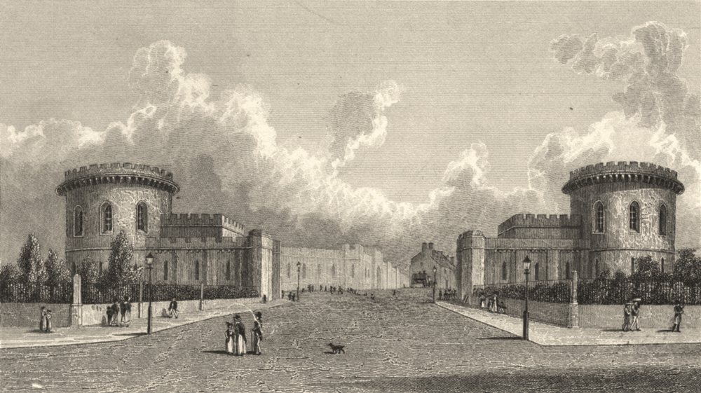 Associate Product CUMBRIA. Entrance to Carlisle from the south. (Finden/Westall) 1830 old print