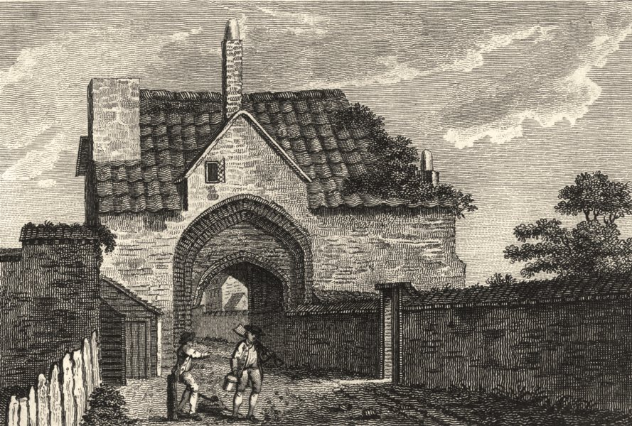 Associate Product ESSEX. Abbey of Stratford Langthorne . Copperplate (Grose) 1787 old print