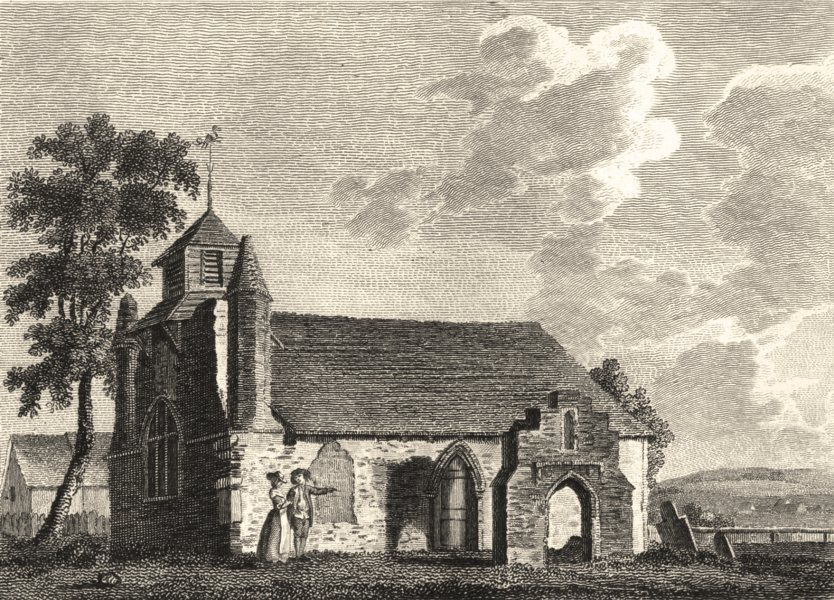 Associate Product ESSEX. St. Mary Magdalens Church Colchester . Copperplate (Grose) 1787 print