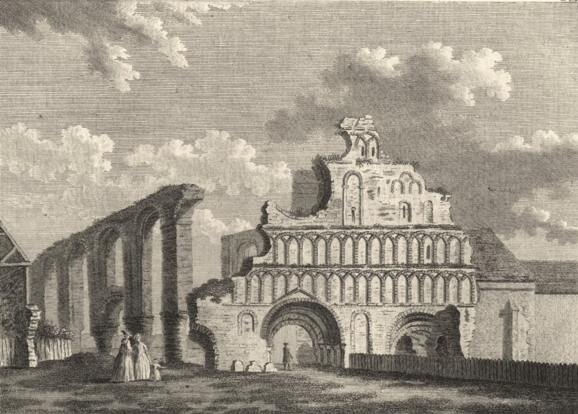 Associate Product ESSEX. St. Botolph's Priory, Colchester . Copperplate (Grose) 1787 old print