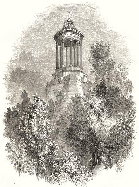 Associate Product SCOTLAND. Burns's Monument, Alloway 1850 old antique vintage print picture
