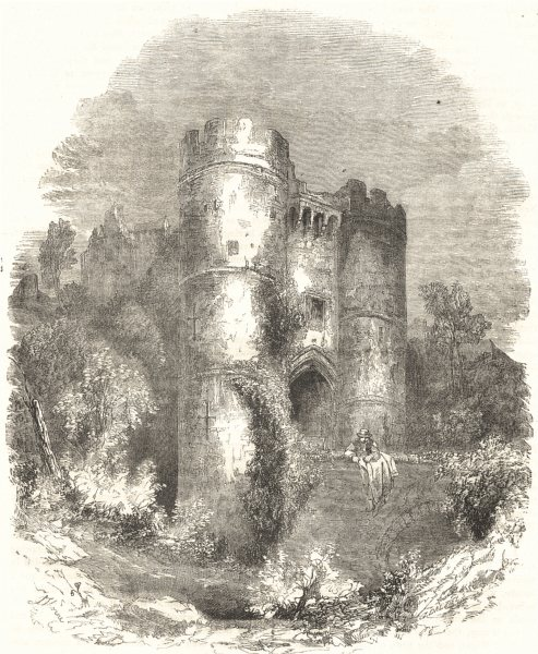 Associate Product ISLE OF WIGHT. Carisbrooke Castle 1850 old antique vintage print picture
