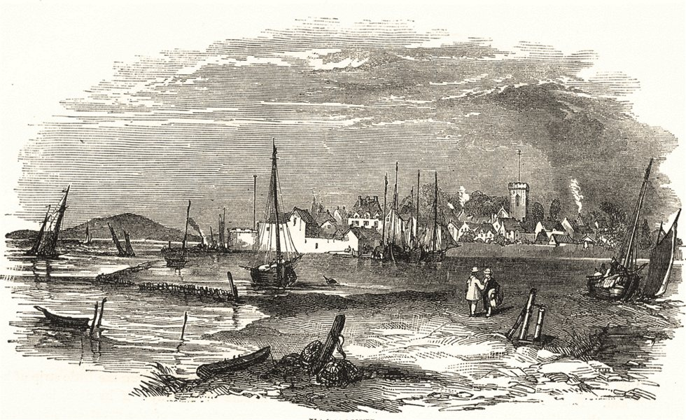 Associate Product NORFOLK. Yarmouth 1850 old antique vintage print picture