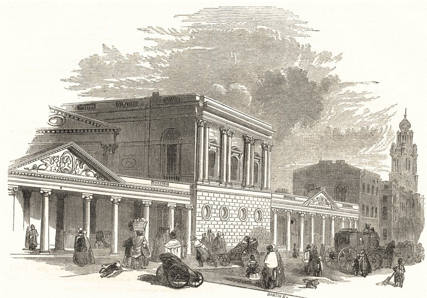 Associate Product BATH. King's Bath and Pump- Room 1850 old antique vintage print picture