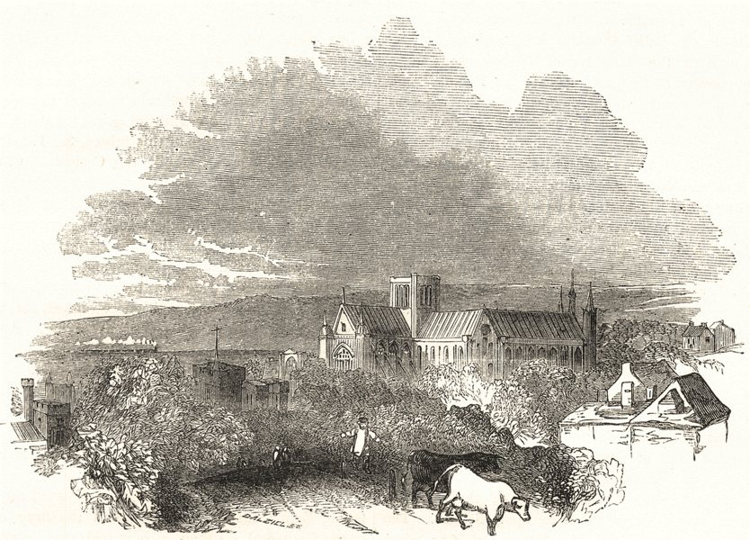 Associate Product HAMPSHIRE. Winchester 1850 old antique vintage print picture
