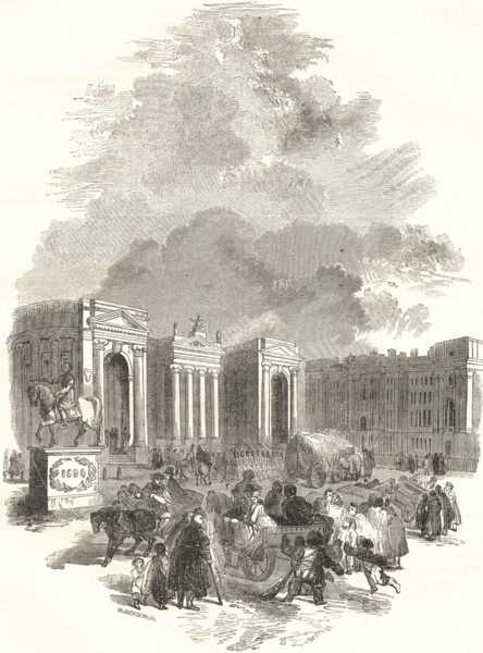 Associate Product IRELAND. Bank and Trinity College, Dublin 1850 old antique print picture