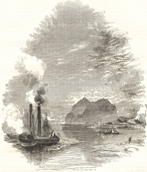 Associate Product SCOTLAND. The Clyde- Dumbarton 1850 old antique vintage print picture