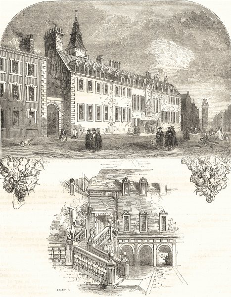 Associate Product GLASGOW. The College; The College Staircase 1850 old antique print picture