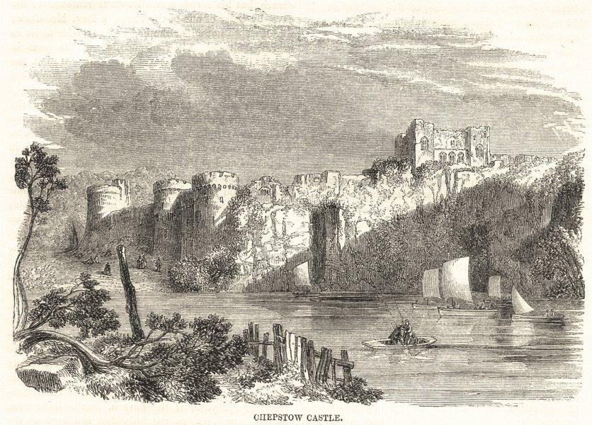 Associate Product WALES. Chepstow Castle 1850 old antique vintage print picture