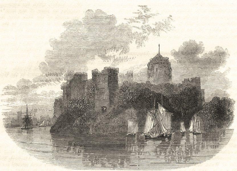 Associate Product WALES. Pembroke Castle 1850 old antique vintage print picture