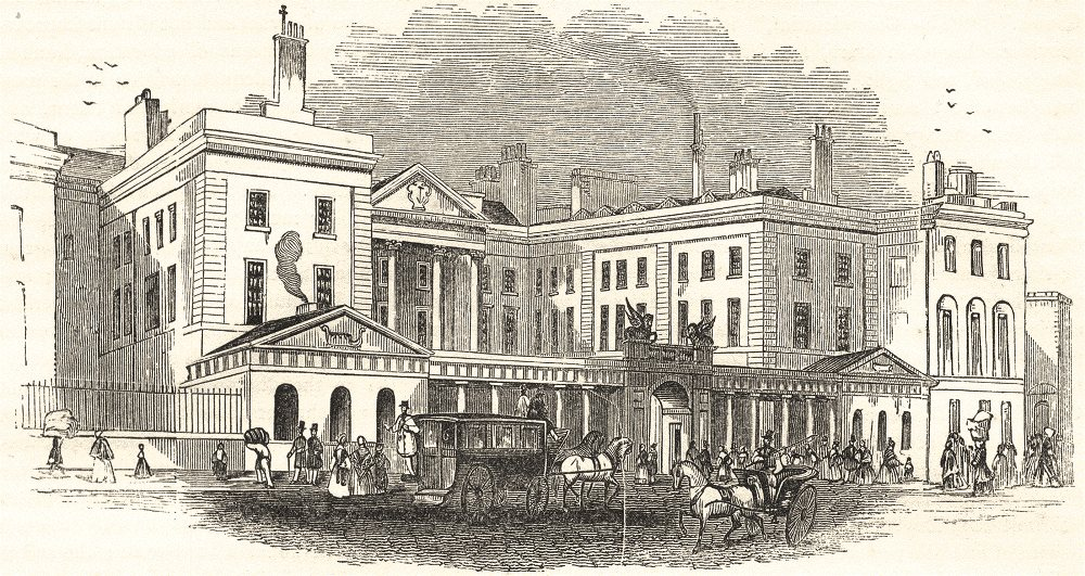 Associate Product LONDON. The Admiralty 1850 old antique vintage print picture