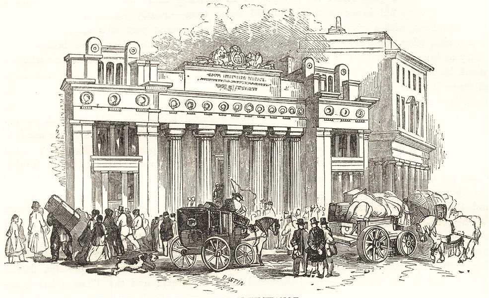 LONDON. The Corn Exchange. SMALL 1850 old antique vintage print picture
