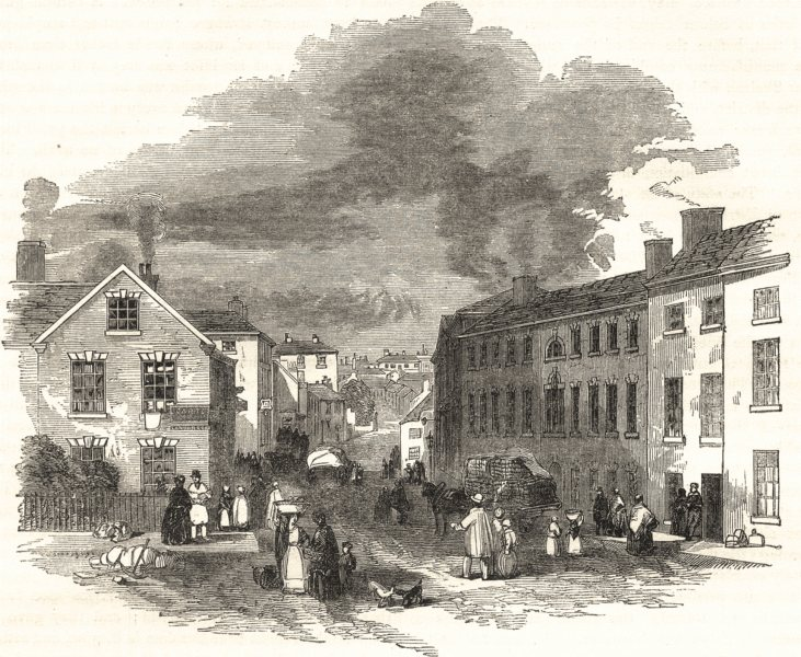 Associate Product STAFFORDSHIRE. High Street, Stoke 1850 old antique vintage print picture