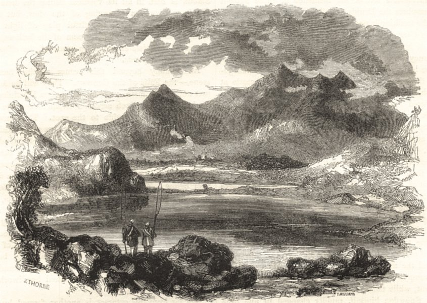 Associate Product WALES. Snowdon, from Capel Curig 1850 old antique vintage print picture