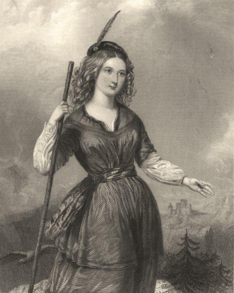 WALTER SCOTT. Anne of Geierstein 1841 old antique vintage print picture