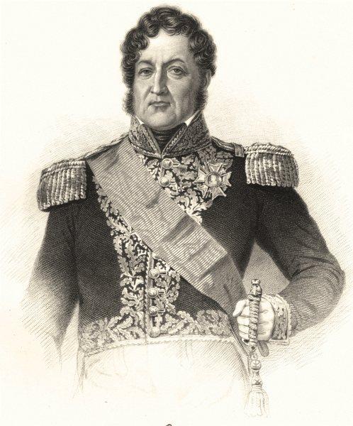 FRANCE. Louis Philippe 1845 old antique vintage print picture