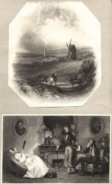 Associate Product ROMANCE. Rivals. Windmill c1840 old antique vintage print picture