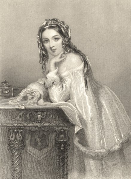 Associate Product WALTER SCOTT. Amy Robsart (Kenilworth) 1841 old antique vintage print picture