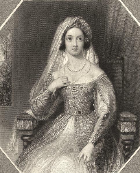 Associate Product ROYALTY. Queen Katherine c1840 old antique vintage print picture