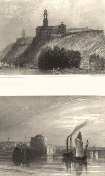 SEINE- MARITIME. Havre. JMW Turner 1857 old antique vintage print picture
