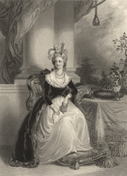 ROYALTY. The Empress Maria Antionette 1839 old antique vintage print picture