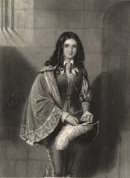 Associate Product WALTER SCOTT. Margaret Ramsay (Fortunes of Nigel) 1841 old antique print