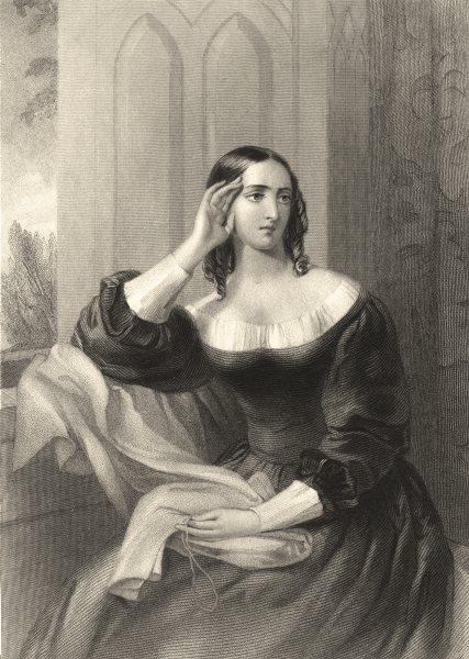 Associate Product WALTER SCOTT. Flora MacIvor (Waverley) 1841 old antique vintage print picture