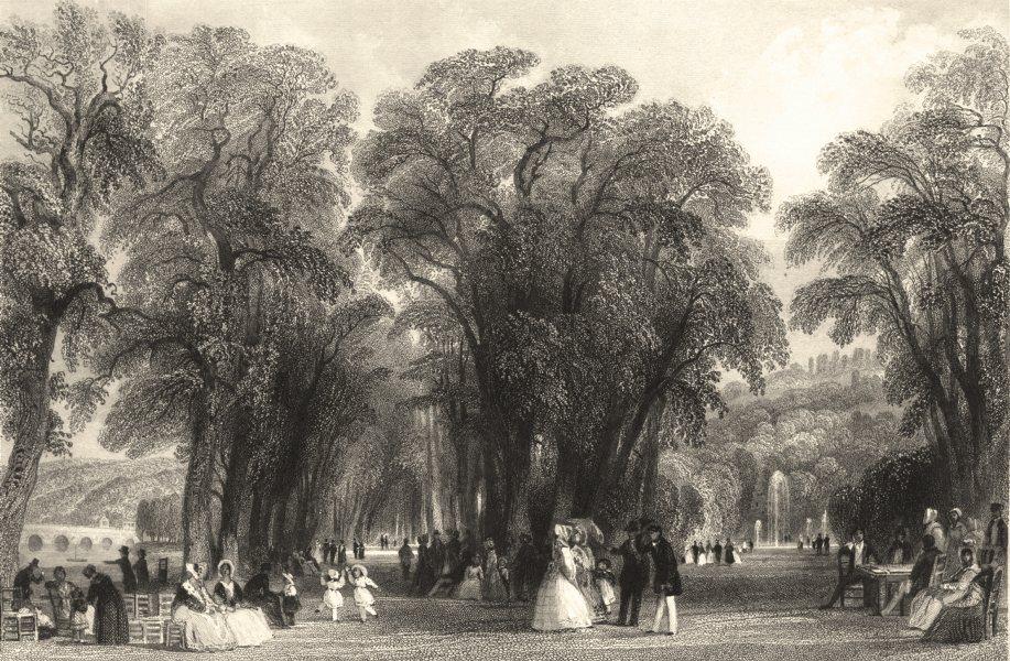Associate Product HAUTS- DE- SEINE. The Park of St. Cloud. Allom 1845 old antique print picture
