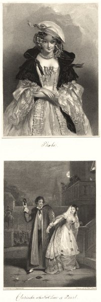 Associate Product ROMANCE. Phoebe; Clarinda, or the Necklace of Pearl c1840 old antique print