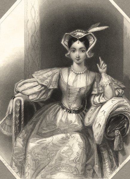 Associate Product ROYALTY. Princess Katherine c1840 old antique vintage print picture