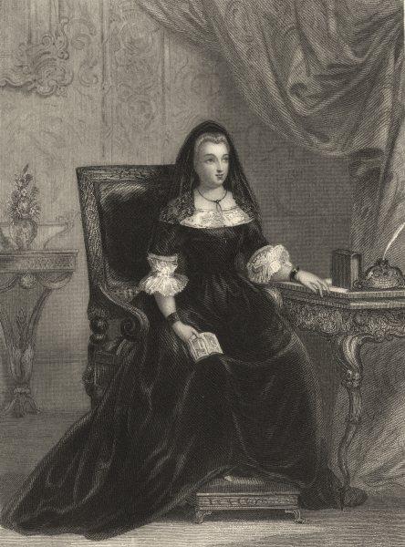 Associate Product FRANCE. Madame de Maintenon 1839 old antique vintage print picture