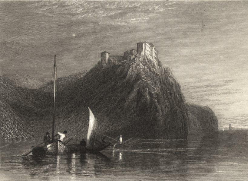 Associate Product LOIRE-ATLANTIQUE. Château de Clermont. Clairmont. Boats mountain 1857 print